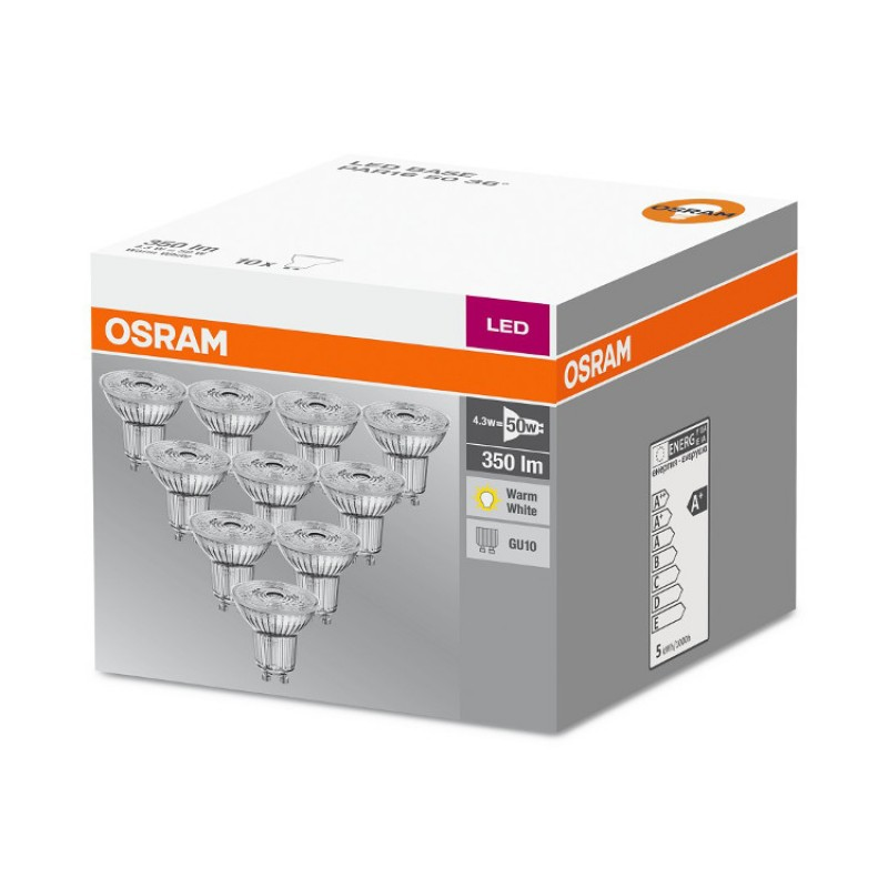 10 x osram gu10 led lighting lamp bulb led star par16 4 3w 50w 35. Black Bedroom Furniture Sets. Home Design Ideas