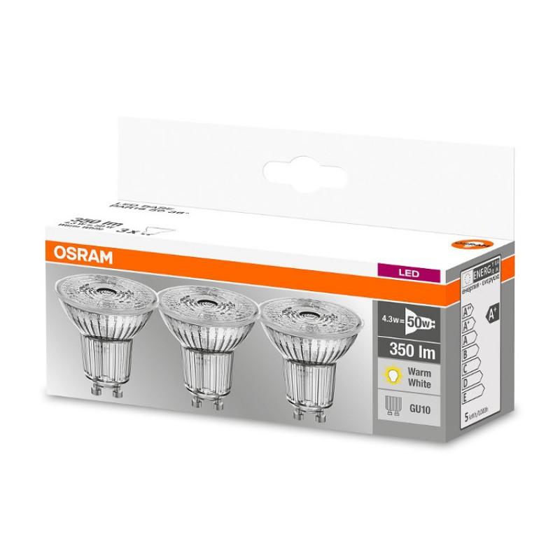 3er pack osram gu10 led leuchtmittel birne lampe bulb led star par. Black Bedroom Furniture Sets. Home Design Ideas