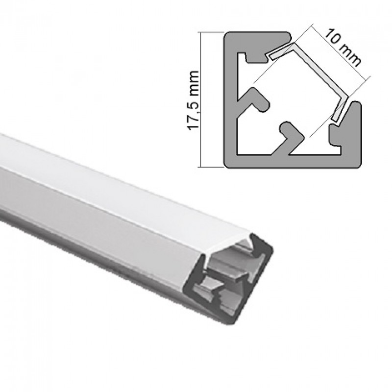 aluminum profile anodised ideal for led strips 2 meter. Black Bedroom Furniture Sets. Home Design Ideas