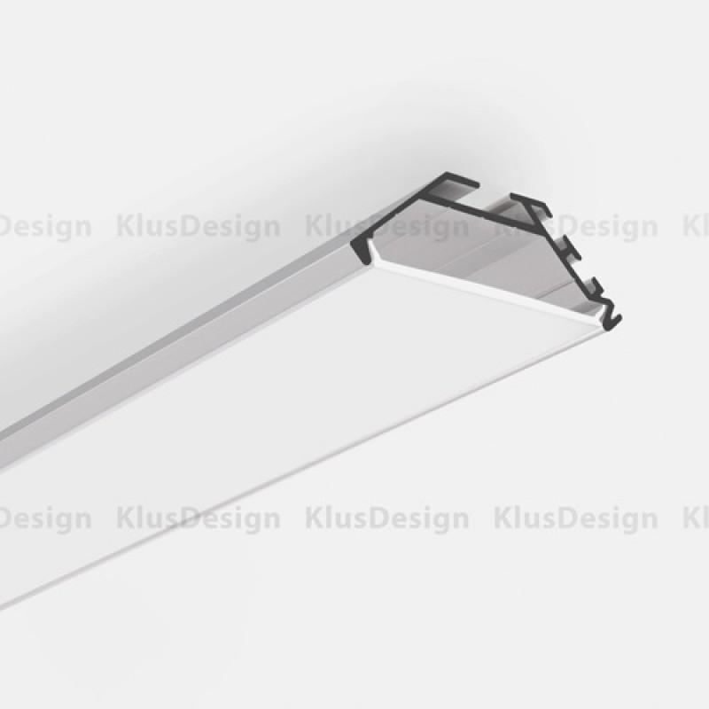profilo in alluminio anodizzato ideale per le strisce a led 1 metr. Black Bedroom Furniture Sets. Home Design Ideas