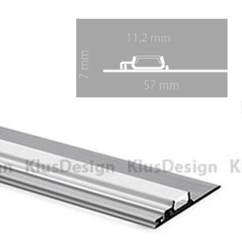 aluminium profil 034 klus nisa pla kpl 18028na eloxiert ideal. Black Bedroom Furniture Sets. Home Design Ideas