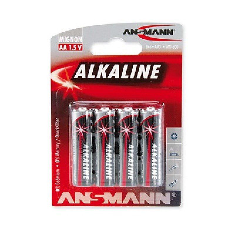 ansmann mignon aa lr6 1 5v alkaline battery 4er 1 90 eledron. Black Bedroom Furniture Sets. Home Design Ideas