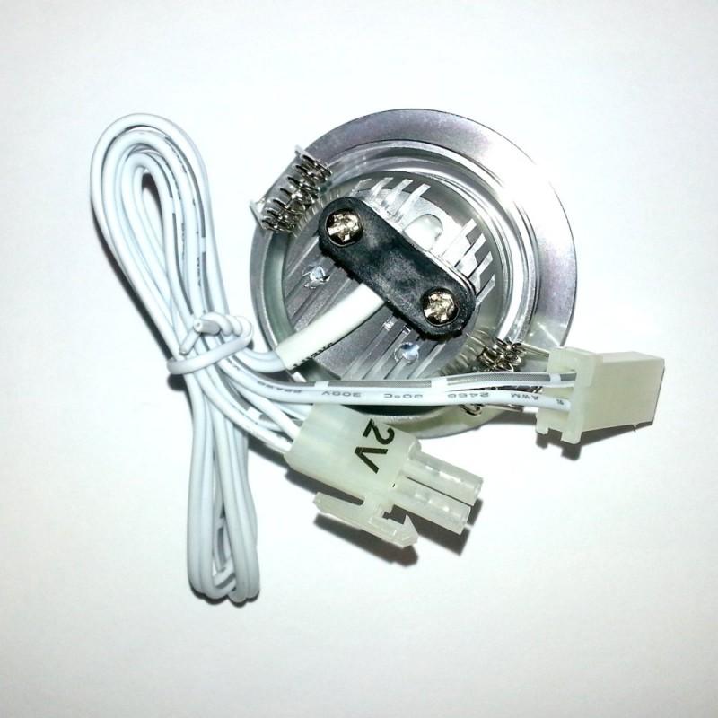 Deckenleuchte Einbauleuchte Downlight Cree 3W LED, Alu, 52mm, 12V, 15