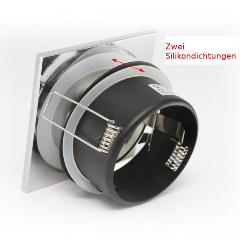 einbaurahmen downlight wasserdicht ip65 eckig aus aluminium in s. Black Bedroom Furniture Sets. Home Design Ideas