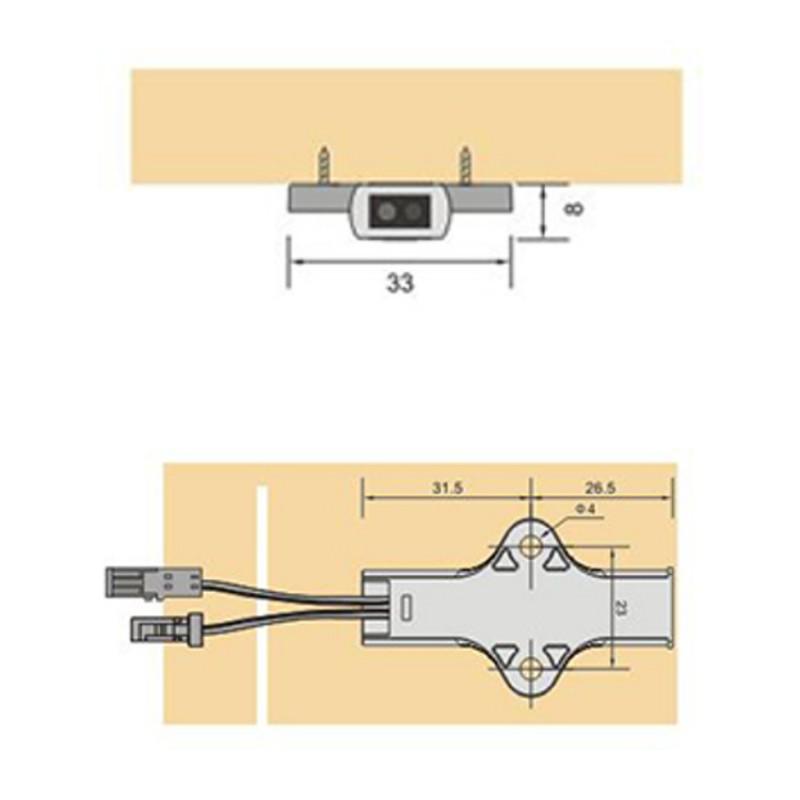 Hand Shaking sensor switch, Surface mounting / Bewegungssensor Schalt