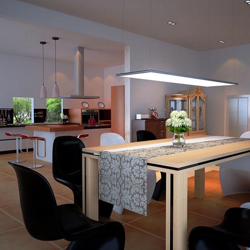 led panel ultraflach eckig aufbau und pendelleuchte 1195x295mm 8. Black Bedroom Furniture Sets. Home Design Ideas