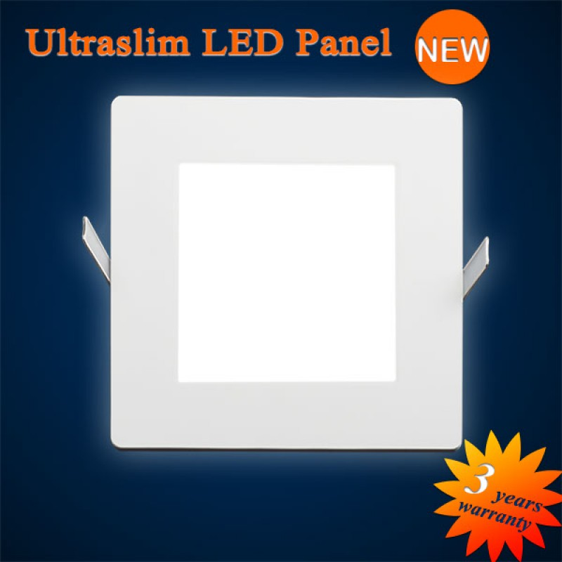led panel ultraflach eckig zum einbauen 121x121mm 9w 483 lumen 5800. Black Bedroom Furniture Sets. Home Design Ideas