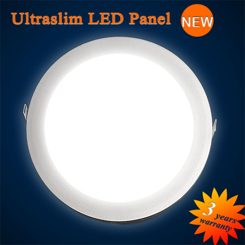 ultraslim led panel round to embed 223 2 mm 15w 850 lumen warm white. Black Bedroom Furniture Sets. Home Design Ideas