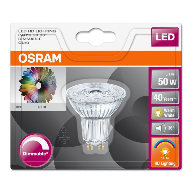 osram gu10 led hd lighting leuchtmittel birne lampe bulb led star. Black Bedroom Furniture Sets. Home Design Ideas