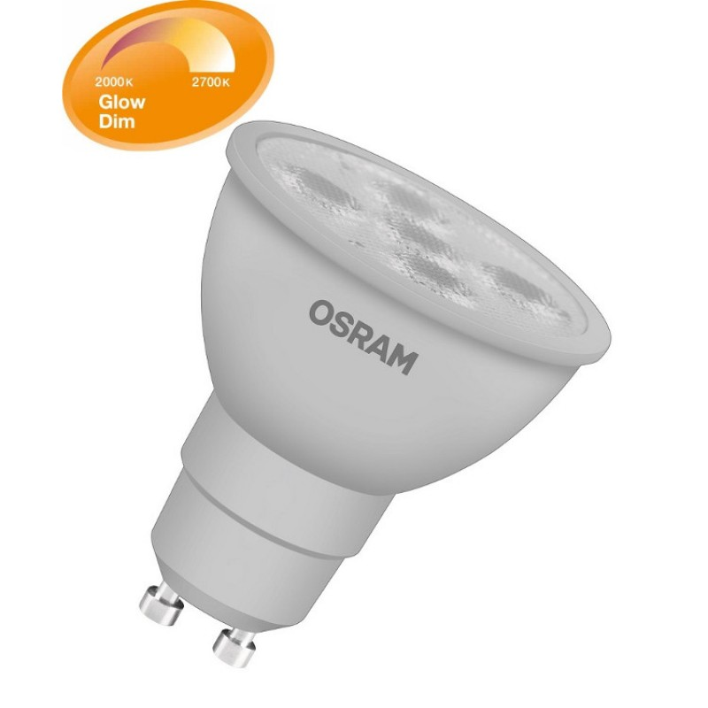 osram gu10 led lighting lamp bulb glowdim led star par16 5 5w 50w. Black Bedroom Furniture Sets. Home Design Ideas