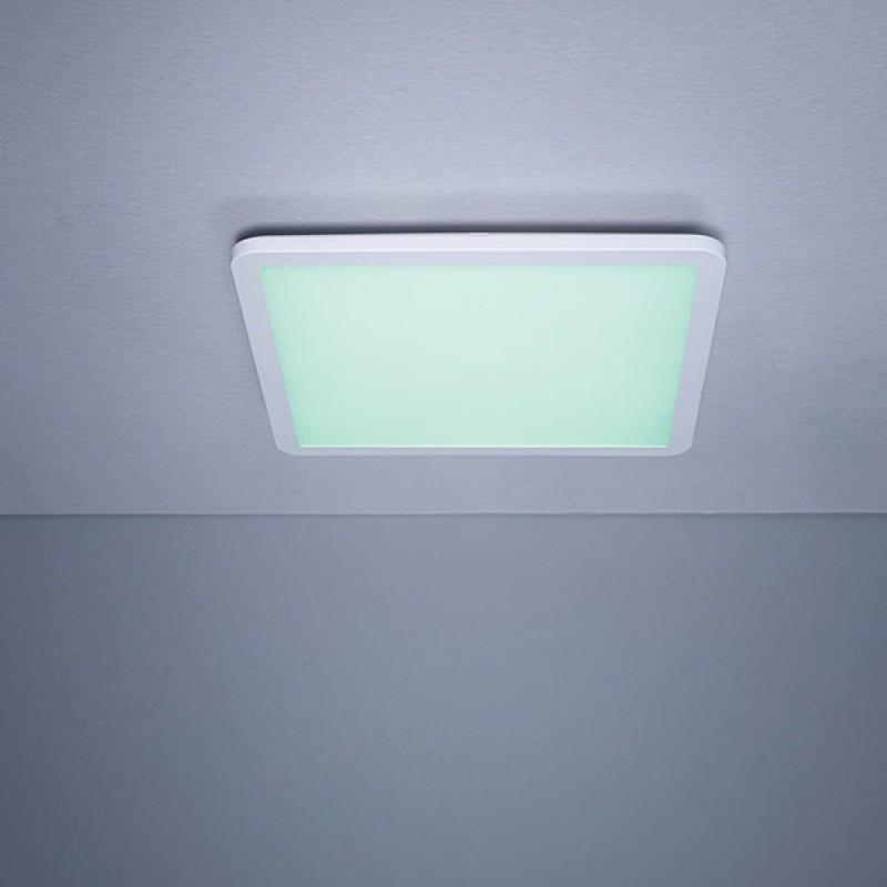 rgb led panel ultra slim 300x300mm 10w plein 370 lumen dimbare in whi. Black Bedroom Furniture Sets. Home Design Ideas