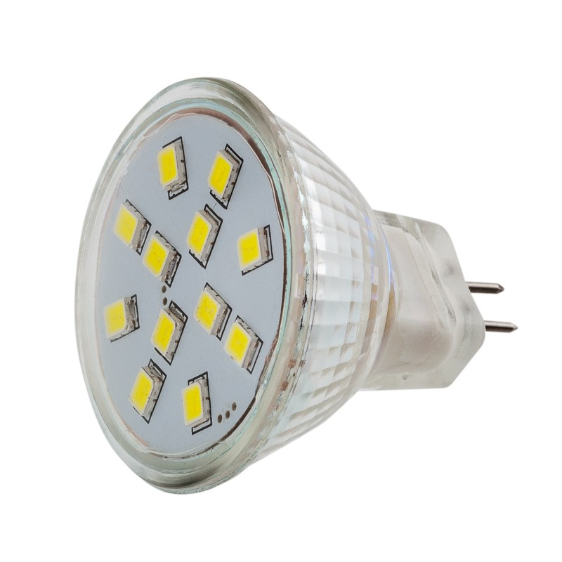 Sebson gu4 mr11 smd12 led leuchtmittel birne lampe 1 6w for Led lampen 12v