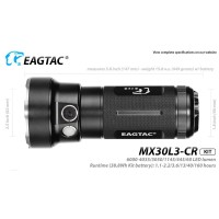 EAGTAC MX30L3CR, Taschenlampe, LED Variation: 6 x CREE...
