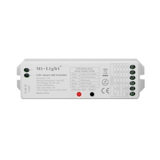 Mi-Light / 5 in 1 smart LED Strip controller/ single white, CCT-dual white, RGB, RGBW, RGB + CCT/ DC12V/24V / Wireless Light Control / Kabellose Lichtsteuerung / LS2