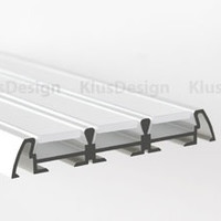 Aluminum profile, anodised, ideal for LED strips, 1 meter