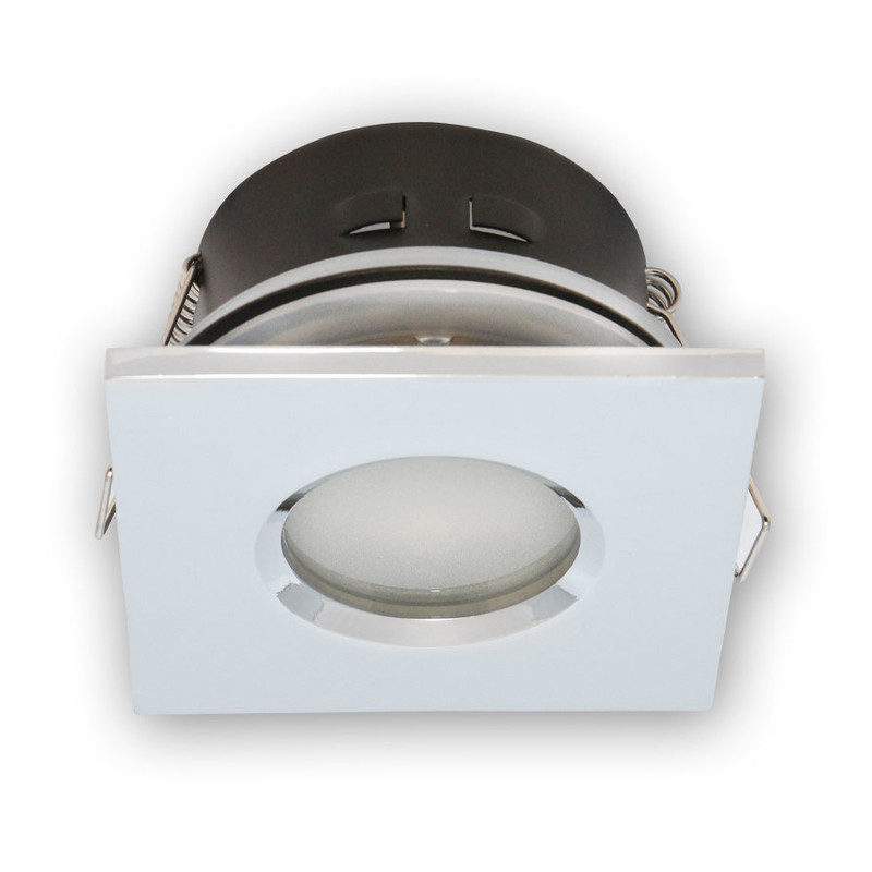5 Stück IP65 EINBAURAHMEN RUND für GU10//MR16 Farbe Weiss TOP Sales