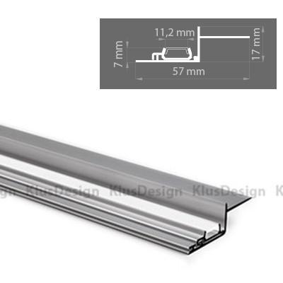 aluminium profil 036 nisa kra kpl 18026na eloxiert ideal f r m 33 74. Black Bedroom Furniture Sets. Home Design Ideas