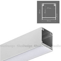 Aluminum profile INTER KPL. - 18011ANODA, space for power...