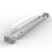 Set - Aluminium Profil P4-1, ideal für LED-Strips, Silber...