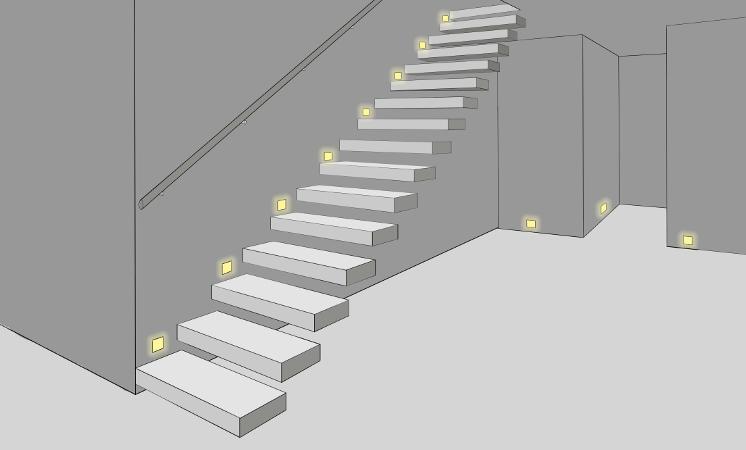Treppenbeleuchtung, Stufenbeleuchtung, Flurbeleuchtung