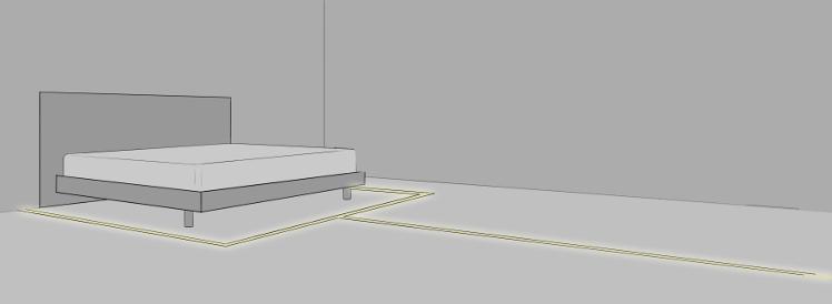 Wegführung durch LED Bodenprofile