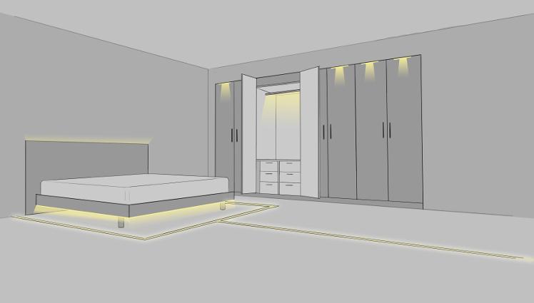 schlafzimmer beleuchtung. Black Bedroom Furniture Sets. Home Design Ideas